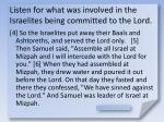 listen for what was involved in the israelites being committed to the lord5