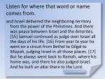 listen for where that word or name comes from15