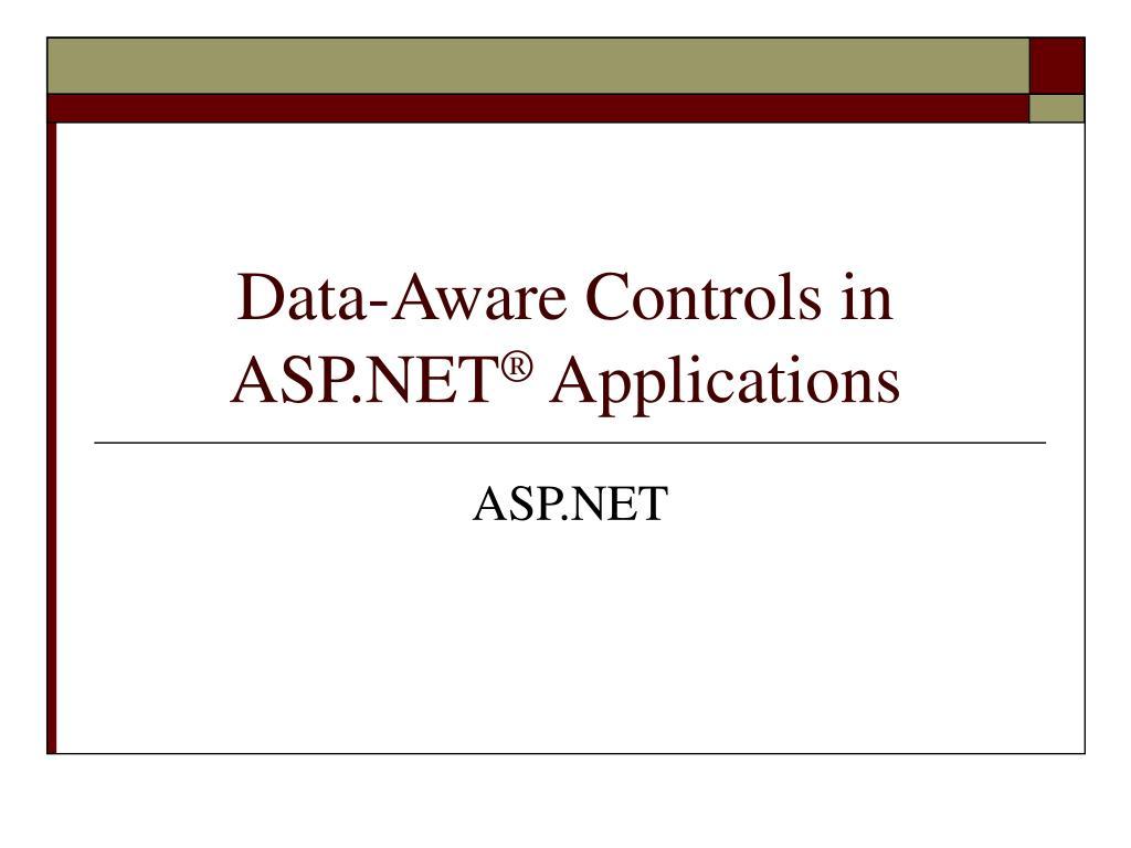 data aware controls in asp net applications l.