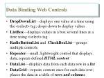 data binding web controls