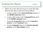 linking the objects page 1