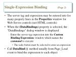 single expression binding page 2