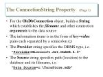 the connectionstring property page 1