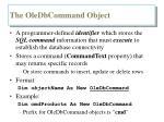 the oledbcommand object