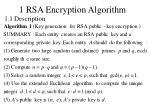 1 rsa encryption algorithm