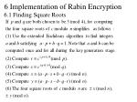 6 implementation of rabin encryption