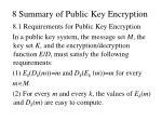 8 summary of public key encryption