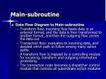 main subroutine36