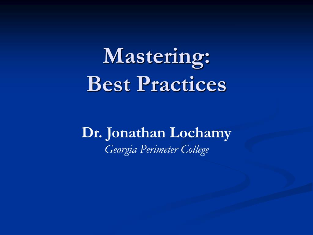 mastering best practices l.