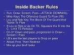 inside backer rules