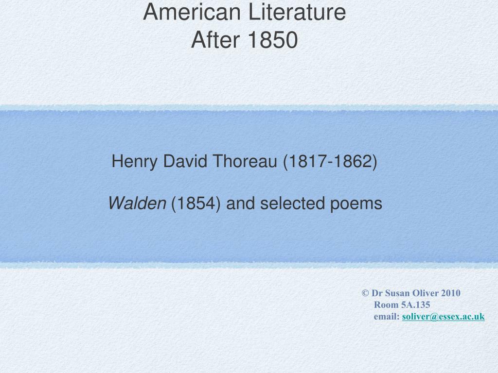 american literature after 1850 l.