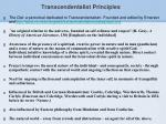 transcendentalist principles