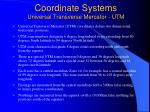 coordinate systems universal transverse mercator utm