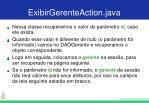 exibirgerenteaction java52