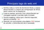 principais tags do web xml