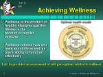 achieving wellness
