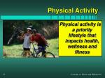 physical activity is a priority lifestyle that impacts health wellness and fitness