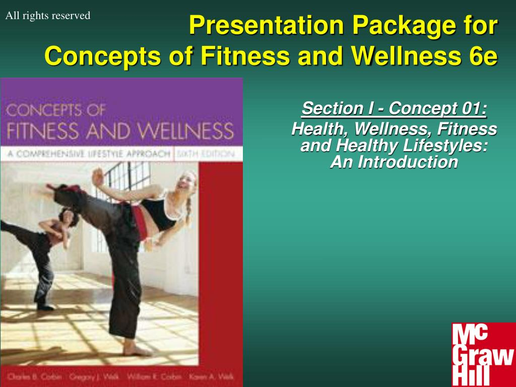 presentation package for concepts of fitness and wellness 6e l.