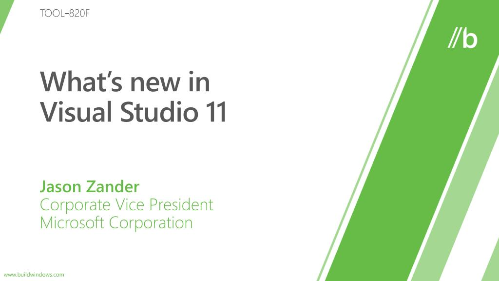 what s new in visual studio 11 l.