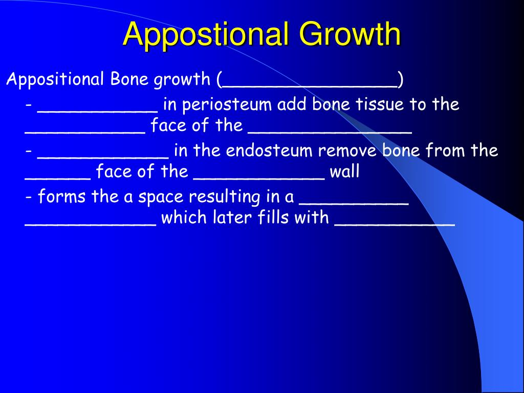 Appostional Growth
