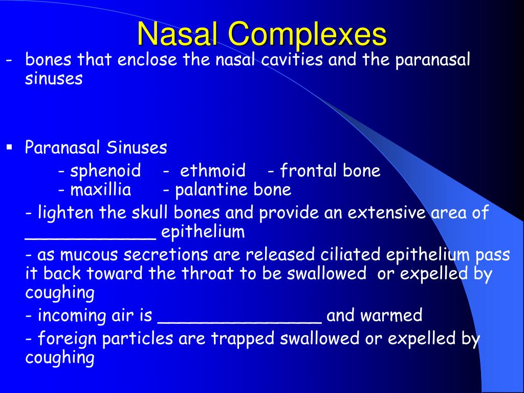 Nasal Complexes
