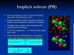 implicit solvent pb