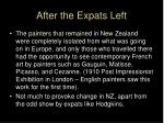 after the expats left