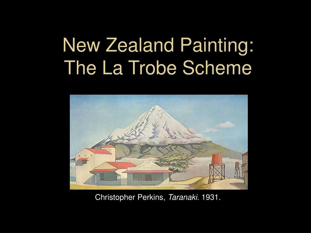 new zealand painting the la trobe scheme l.