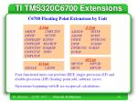 ti tms320c6700 extensions