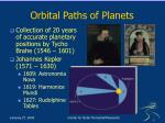 orbital paths of planets