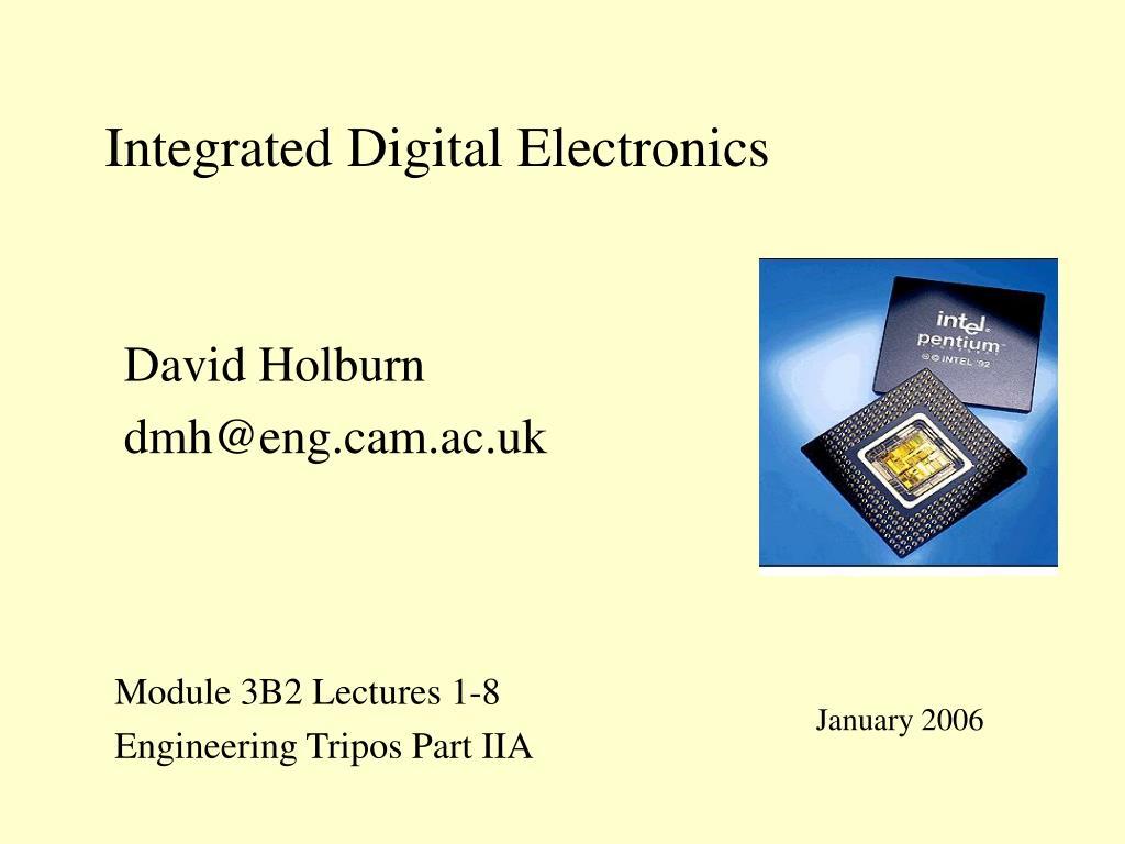 integrated digital electronics l.