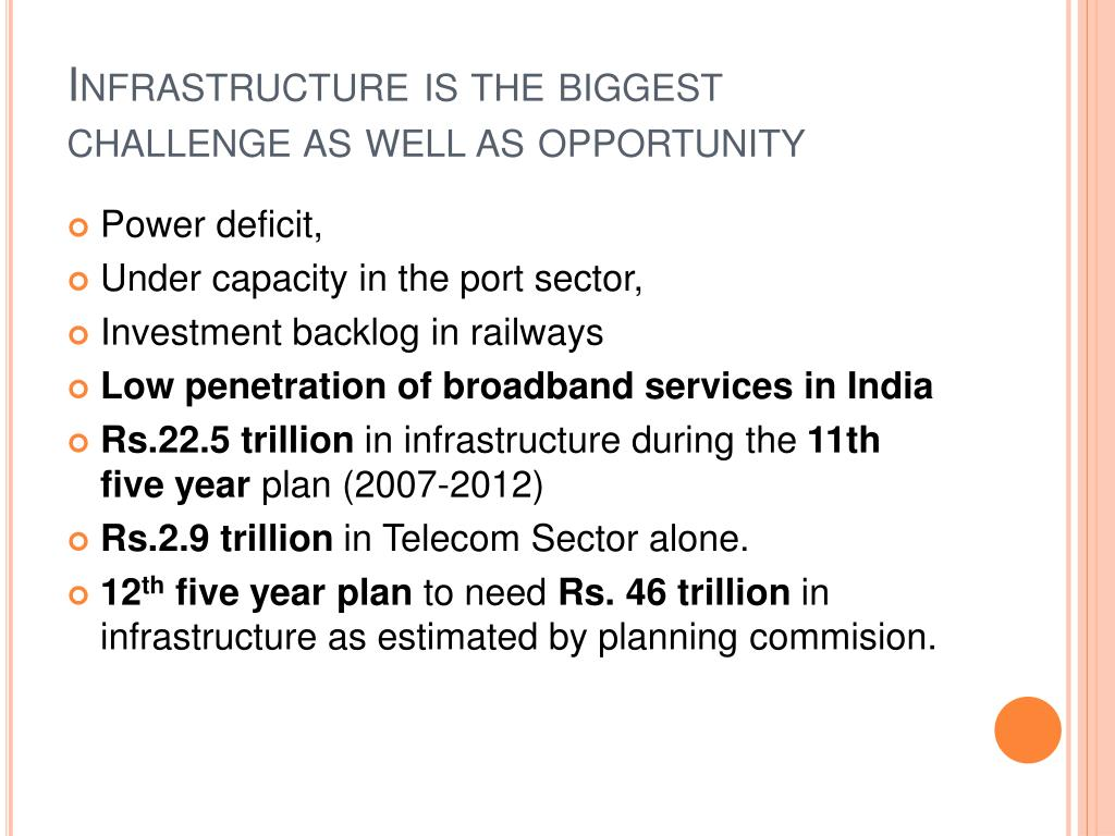Infrastructure is the biggest challenge as well as opportunity