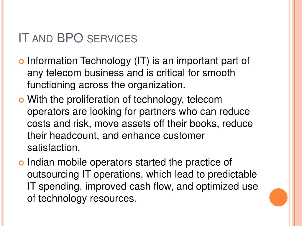 IT and BPO services