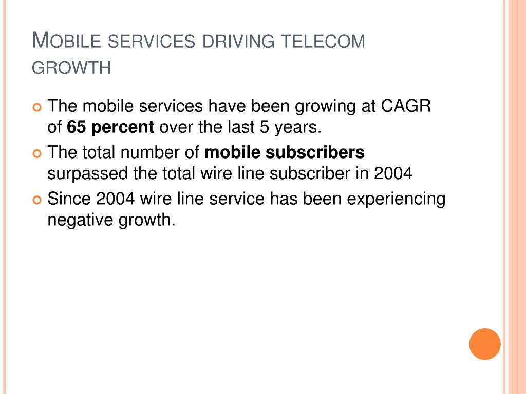 Mobile services driving telecom growth