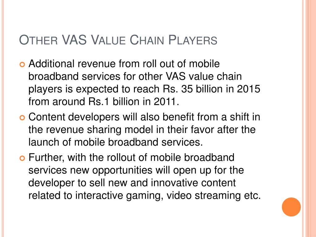 Other VAS Value Chain Players