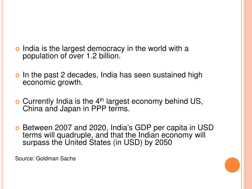 India is the largest democracy in the world with a population of over 1.2 billion.