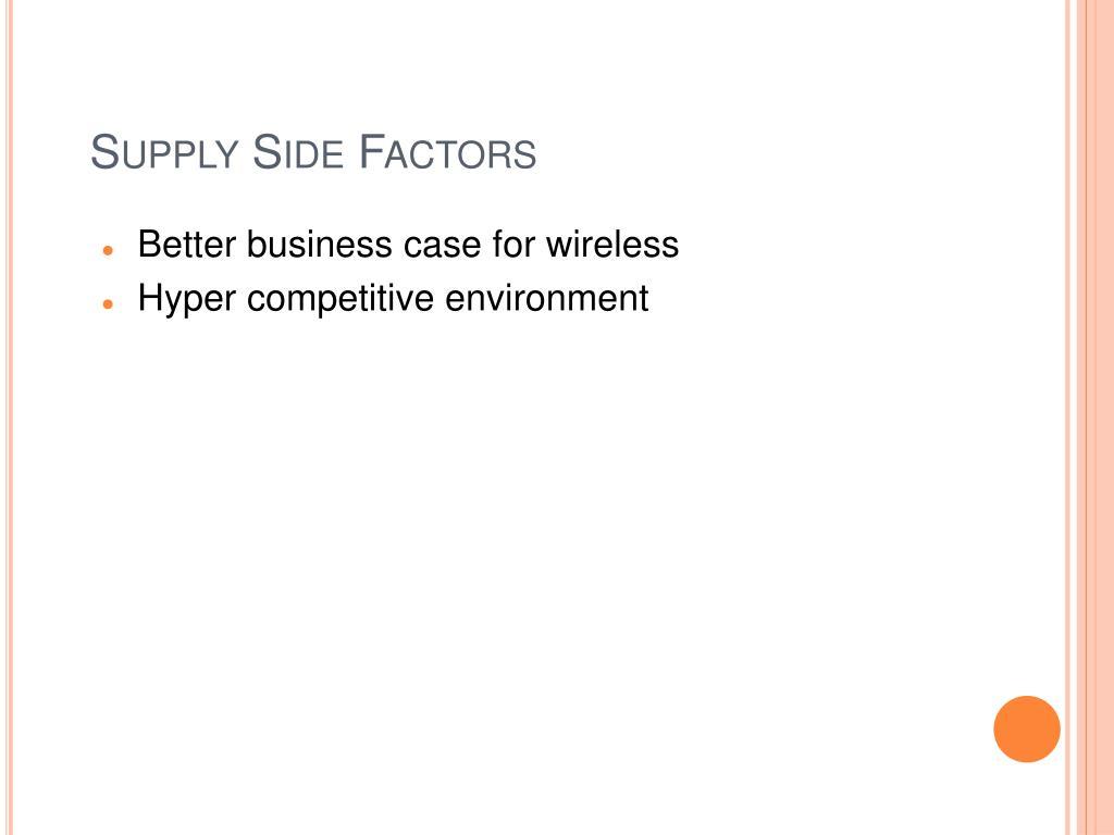 Supply Side Factors