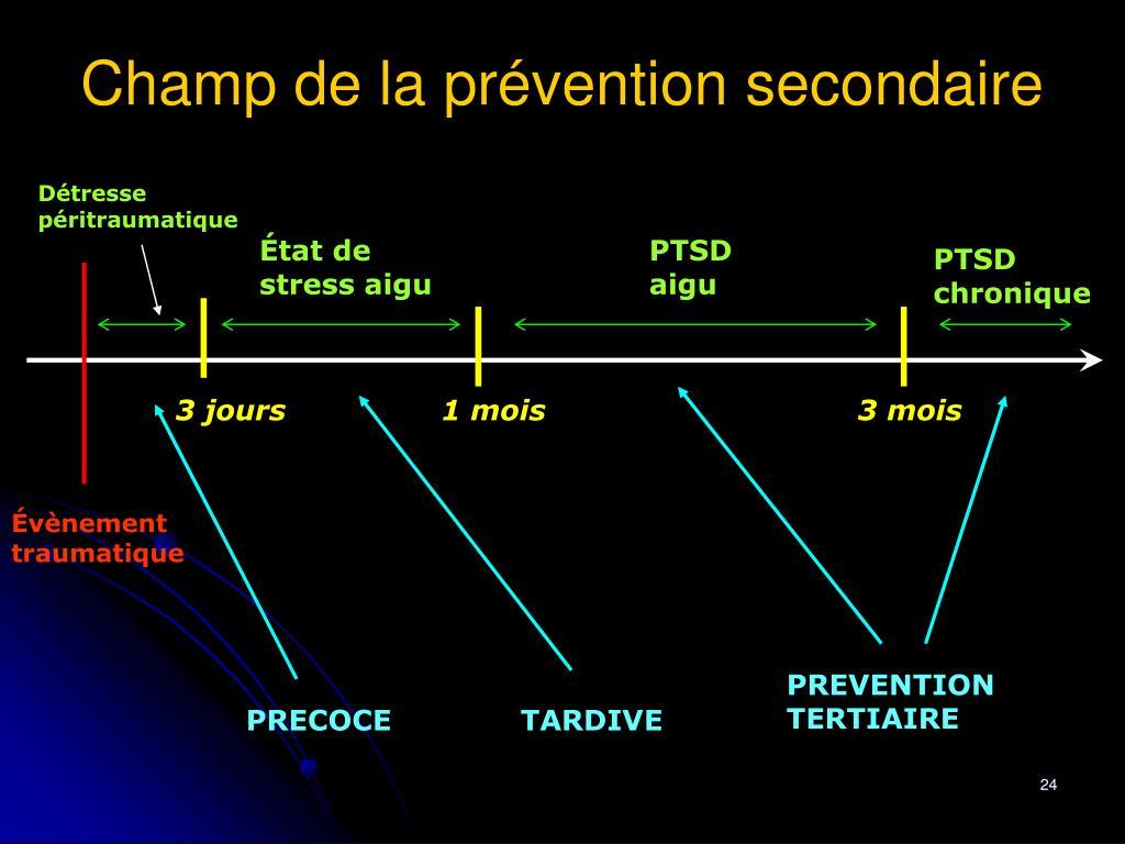 Champ de la prévention secondaire
