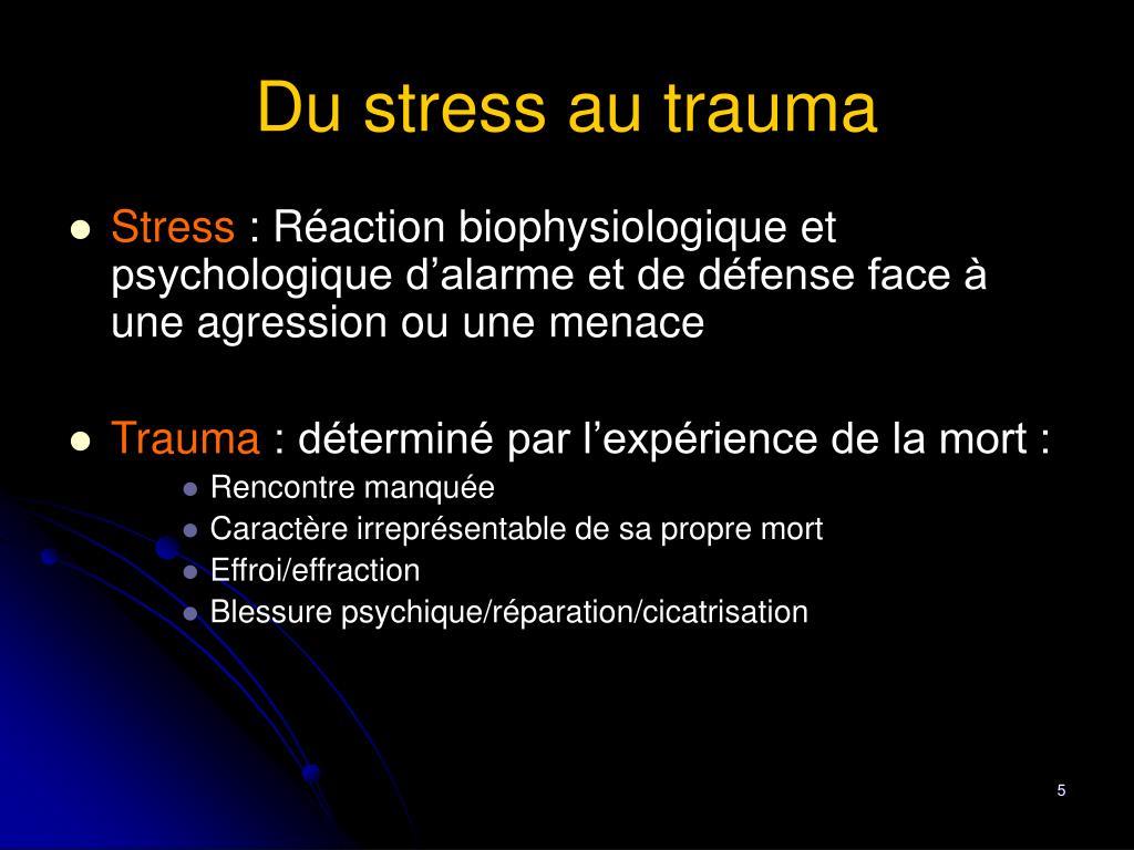 Du stress au trauma