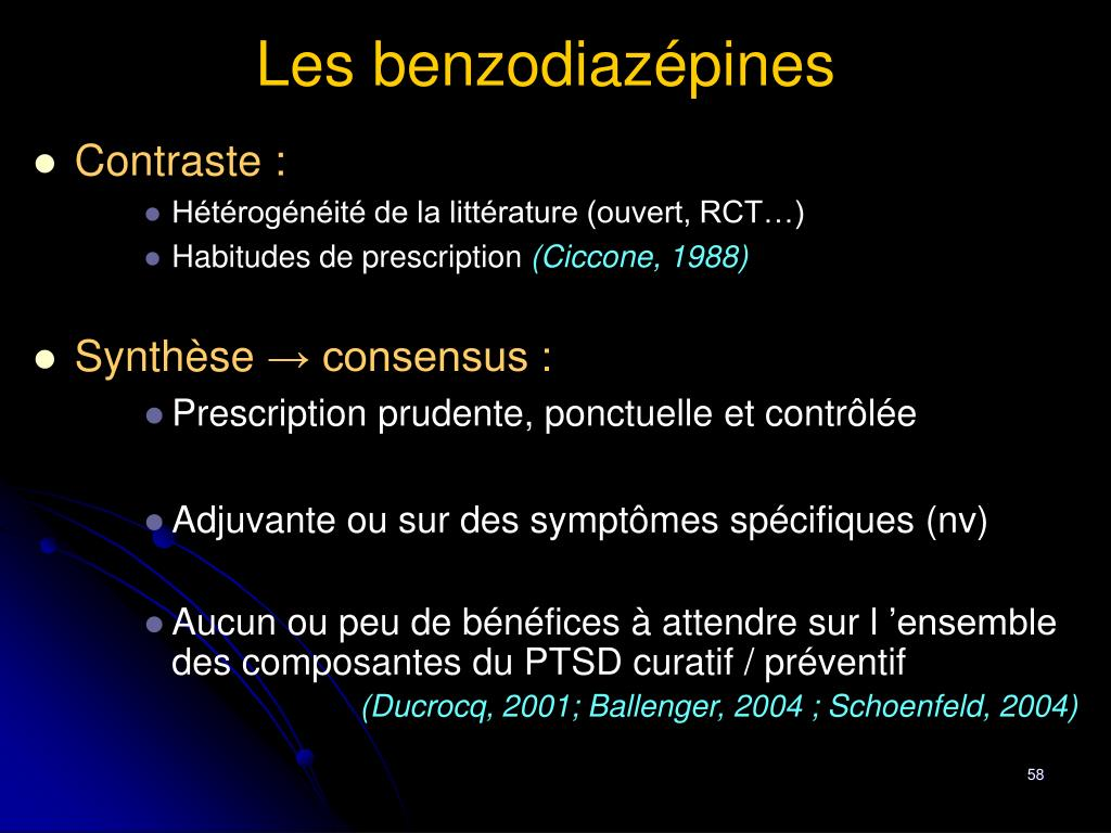 Les benzodiazépines