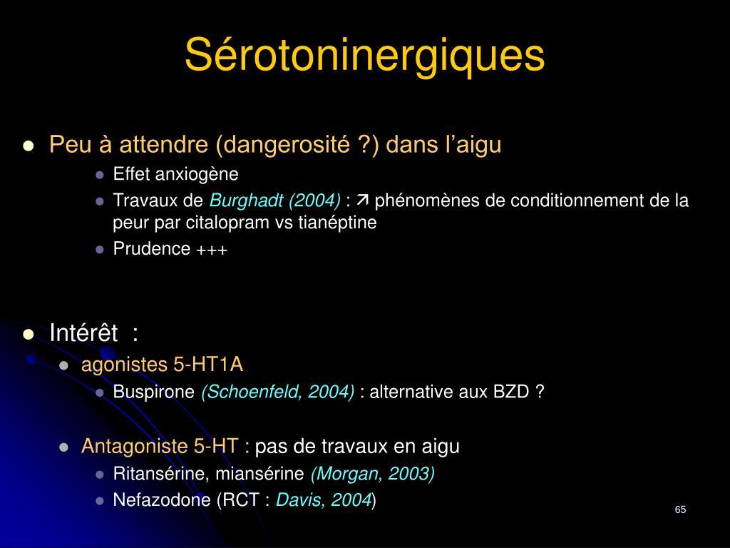 Sérotoninergiques