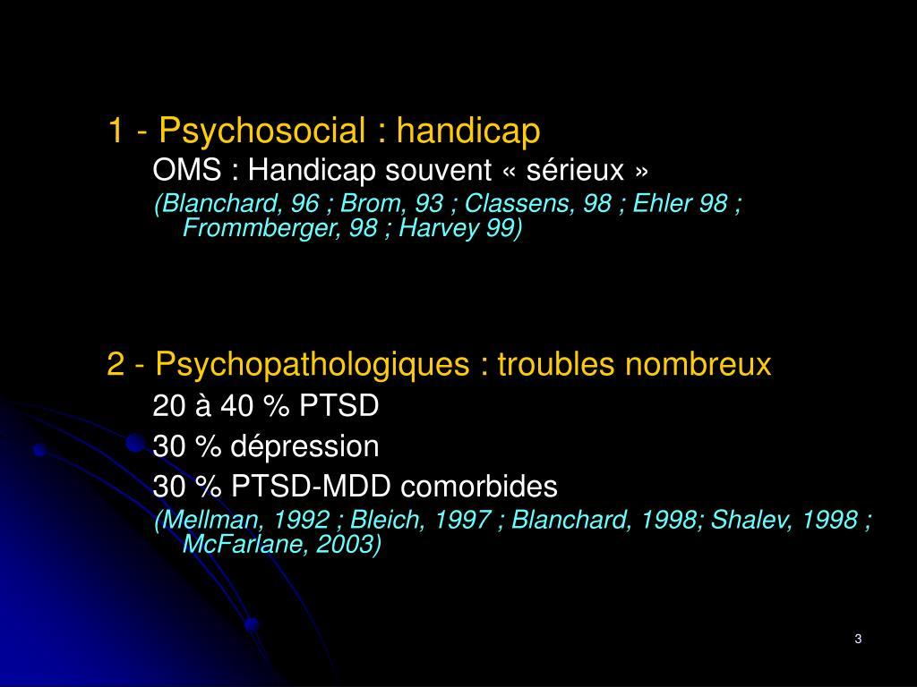 1 - Psychosocial : handicap