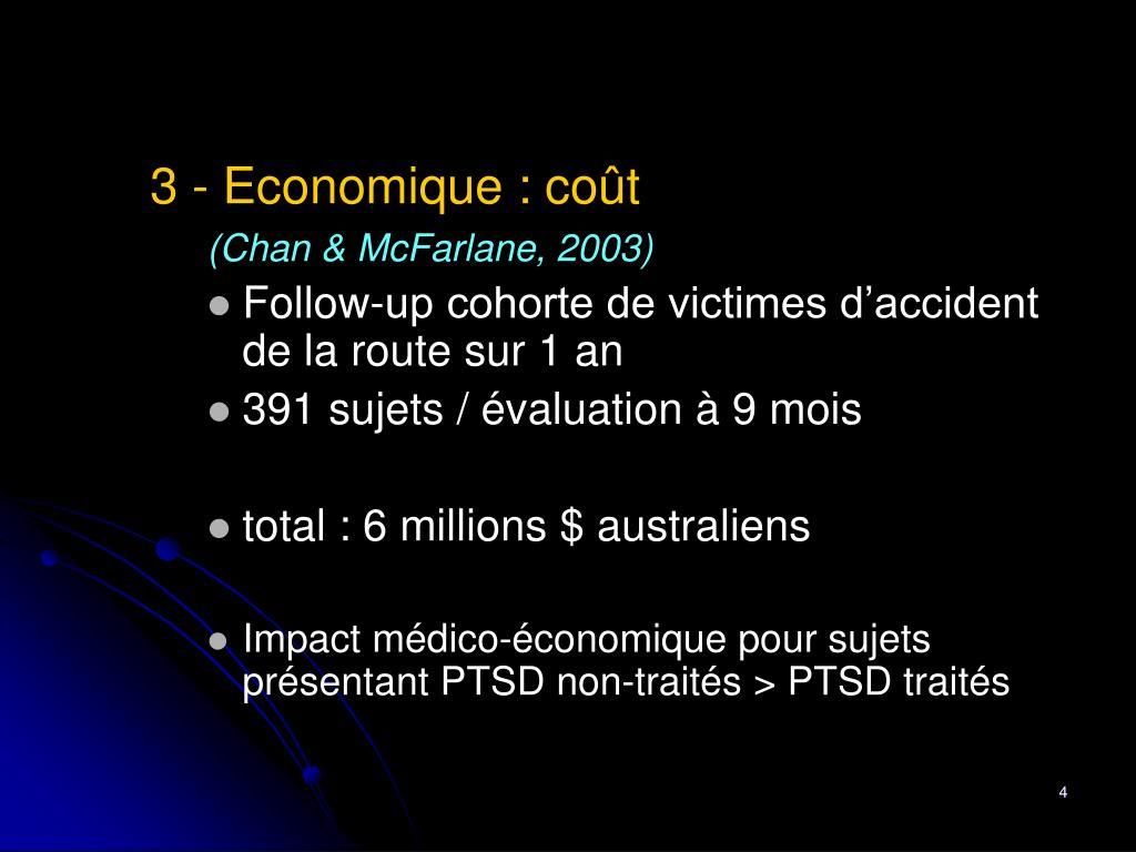 3 - Economique : coût