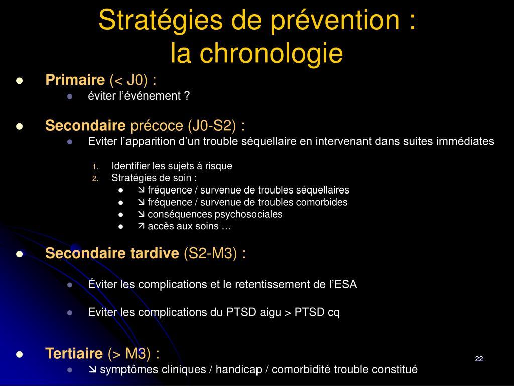 Stratégies de prévention :