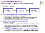 our approach acasa a daptable c ots a ware s oftware a rchitecting