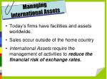 managing international assets