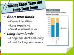mixing short term and long term funds
