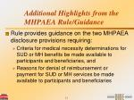 additional highlights from the mhpaea rule guidance24