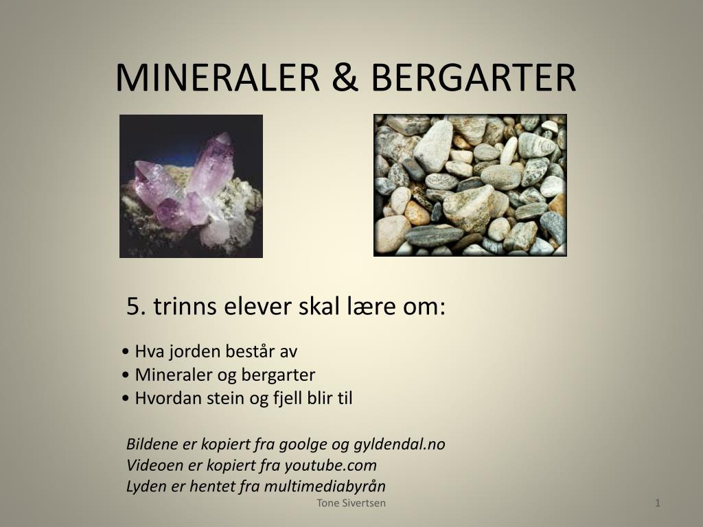mineraler bergarter l.