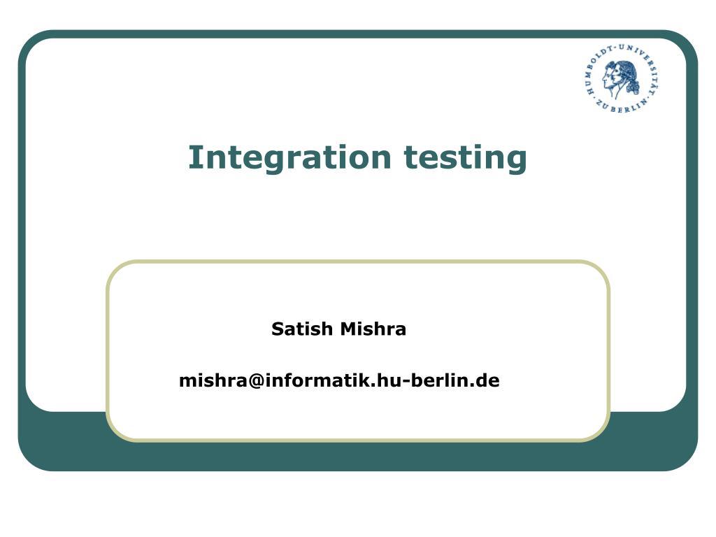 integration testing l.